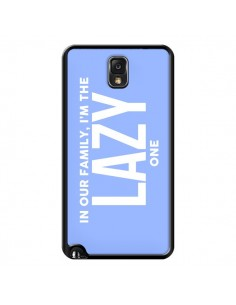 Coque In our family i'm the Lazy one pour Samsung Galaxy Note III - Jonathan Perez