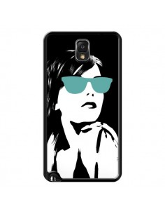 Coque Fille Lunettes Bleues pour Samsung Galaxy Note III - Jonathan Perez