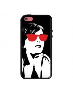 Coque Fille Lunettes Rouges pour iPhone 5C - Jonathan Perez