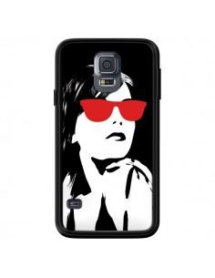 Coque Fille Lunettes Rouges pour Samsung Galaxy S5 - Jonathan Perez