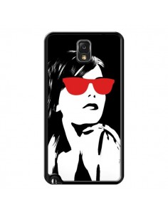 Coque Fille Lunettes Rouges pour Samsung Galaxy Note III - Jonathan Perez