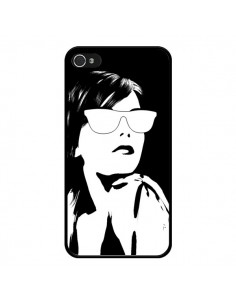 Coque Fille Lunettes Blanches pour iPhone 4 et 4S - Jonathan Perez