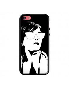 Coque Fille Lunettes Blanches pour iPhone 5C - Jonathan Perez