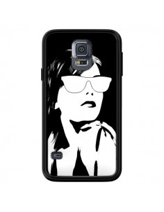 Coque Fille Lunettes Blanches pour Samsung Galaxy S5 - Jonathan Perez