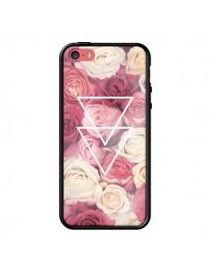 Coque Roses Triangles Fleurs pour iPhone 5C - Jonathan Perez