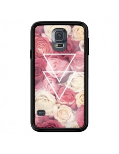 Coque Roses Triangles Fleurs pour Samsung Galaxy S5 - Jonathan Perez