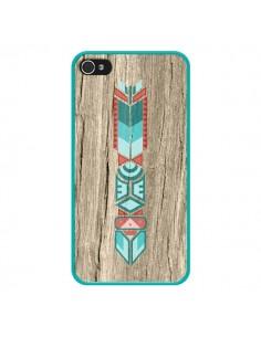 Coque Totem Tribal Azteque Bois Wood pour iPhone 4 et 4S - Jonathan Perez