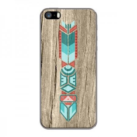 Coque Totem Tribal Azteque Bois Wood pour iPhone 5 et 5S - Jonathan Perez
