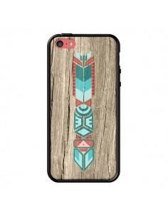 Coque Totem Tribal Azteque Bois Wood pour iPhone 5C - Jonathan Perez