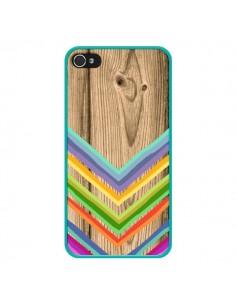 Coque Tribal Azteque Bois Wood pour iPhone 4 et 4S - Jonathan Perez