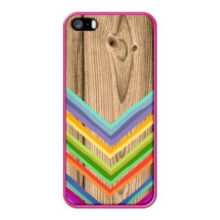Coque Tribal Azteque Bois Wood pour iPhone 5 et 5S - Jonathan Perez