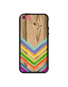 Coque Tribal Azteque Bois Wood pour iPhone 5C - Jonathan Perez