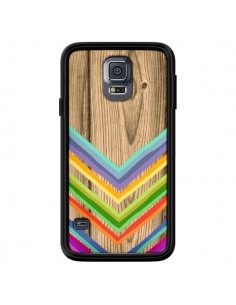 Coque Tribal Azteque Bois Wood pour Samsung Galaxy S5 - Jonathan Perez