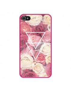 Coque Roses Triangles Fleurs pour iPhone 4 et 4S - Jonathan Perez
