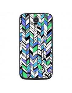 Coque Graphic Azteque Bleu Vert pour Samsung Galaxy S4 - Léa Clément