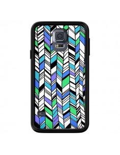 Coque Graphic Azteque Bleu Vert pour Samsung Galaxy S5 - Léa Clément