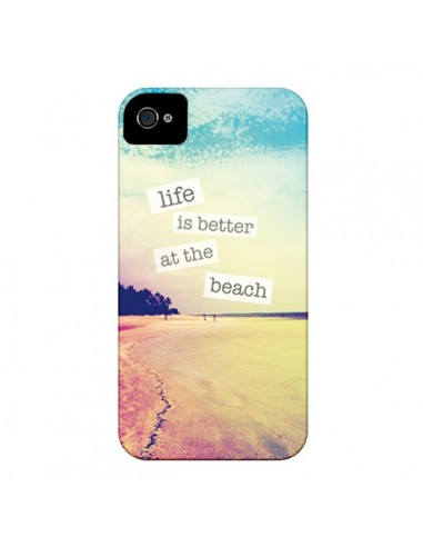 Coque Life is better at the beach Ete Summer Plage pour iPhone 4 et 4S - Mary Nesrala