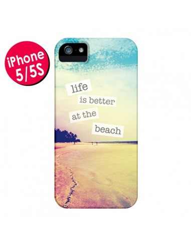 coque iphone 5 5s se life is better at the beach summer ete plage mary nesrala 5s