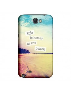 Coque Life is better at the beach Ete Summer Plage pour Samsung Galaxy Note III - Mary Nesrala