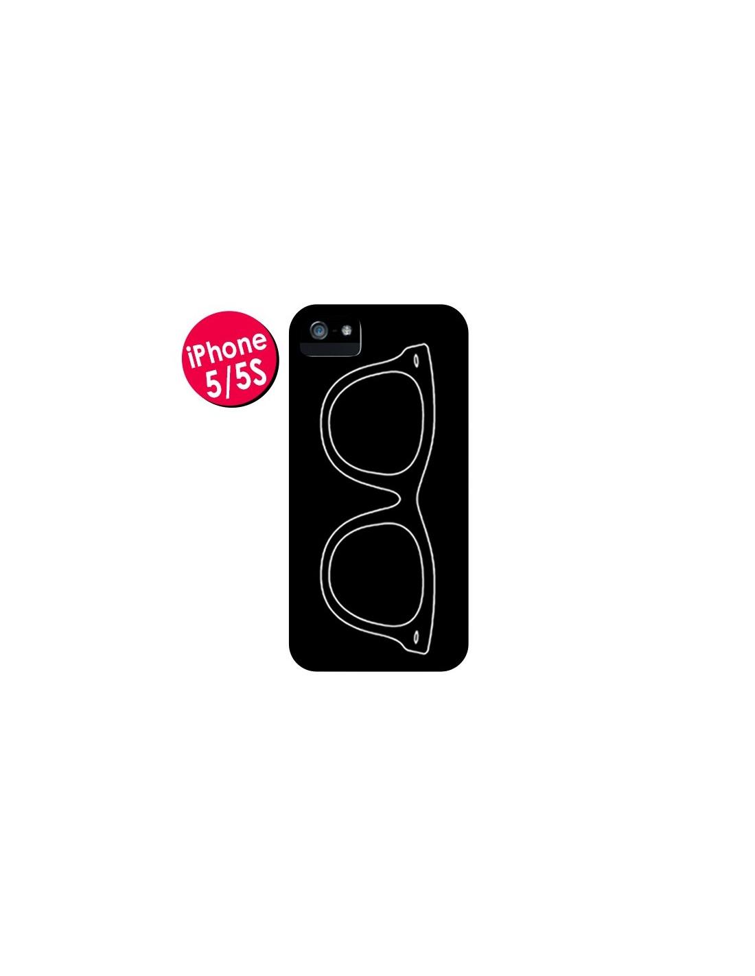 coque lunettes noires pour iphone 5 et 5s mary nesrala. Black Bedroom Furniture Sets. Home Design Ideas