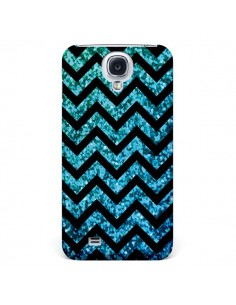 Coque Chevron Aqua Sparkle Triangle Azteque pour Samsung Galaxy S5 - Mary Nesrala