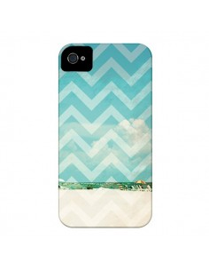 Coque Chevron Beach Dreams Triangle Azteque pour iPhone 4 et 4S - Mary Nesrala