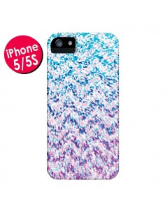 Coque Chevron Splash Triangle Azteque pour iPhone 5 et 5S - Mary Nesrala