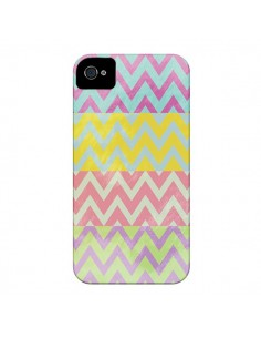 Coque Chevron Summer Triangle Azteque pour iPhone 4 et 4S - Mary Nesrala