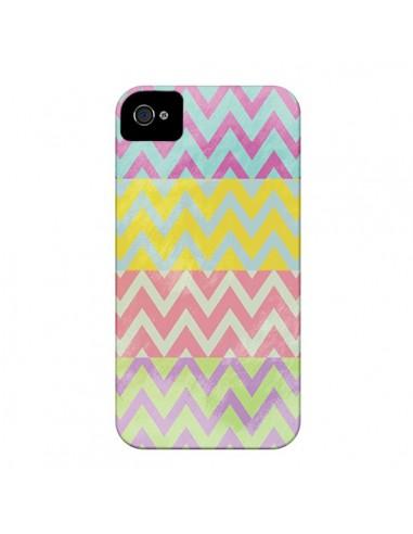 Coque Chevron Summer Triangle Azteque pour iPhone 4 et 4S - Mary Nesrala