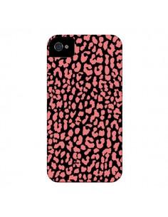 Coque Leopard Corail pour iPhone 4 et 4S - Mary Nesrala