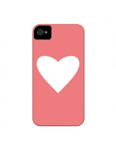 Coque Coeur Corail pour iPhone 4 et 4S - Mary Nesrala