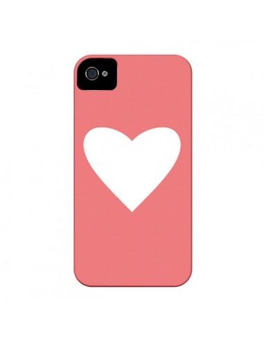 Coque Coeur Corail pour iPhone 4 et 4S - Mary Nesrala