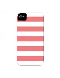 Coque Bandes Corail pour iPhone 4 et 4S - Mary Nesrala
