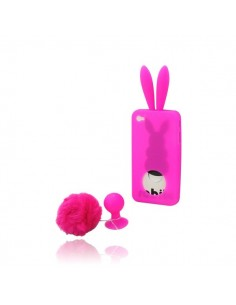Coque Lapin Rose en Silicone pour iPhone 4/4S