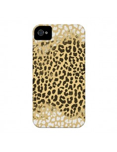 Coque Leopard Golden Or Doré pour iPhone 4 et 4S - Mary Nesrala