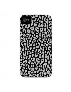 Coque Leopard Gris pour iPhone 4 et 4S - Mary Nesrala