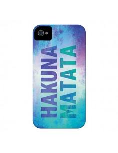 Coque Hakuna Matata Roi Lion Bleu pour iPhone 4 et 4S - Mary Nesrala
