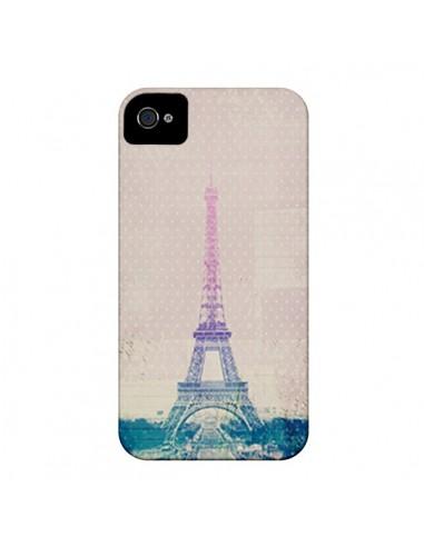 Coque I love Paris Tour Eiffel pour iPhone 4 et 4S - Mary Nesrala
