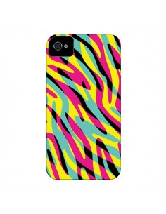 Coque In the wild arc en ciel pour iPhone 4 et 4S - Mary Nesrala