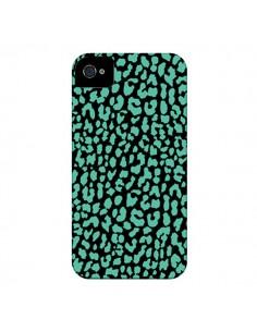 Coque Leopard Mint Vert pour iPhone 4 et 4S - Mary Nesrala