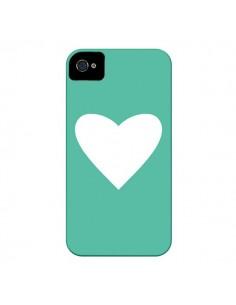 Coque Coeur Mint Vert pour iPhone 4 et 4S - Mary Nesrala