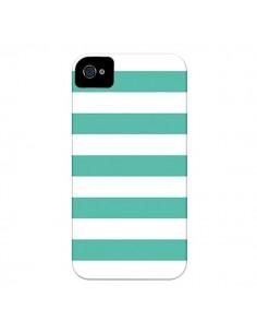 Coque Bandes Mint Vert pour iPhone 4 et 4S - Mary Nesrala
