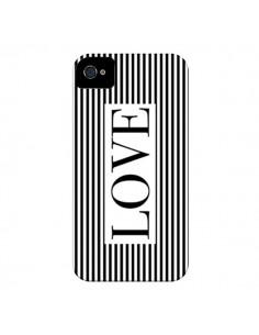 Coque Love Noir et Blanc pour iPhone 4 et 4S - Mary Nesrala