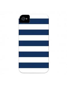 Coque Bandes Marinières Bleu Blanc Gaultier pour iPhone 4 et 4S - Mary Nesrala