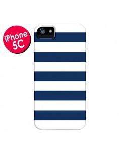 Coque Bandes Marinières Bleu Blanc Gaultier pour iPhone 5C - Mary Nesrala