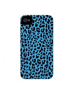 Coque Leopard Bleu Neon pour iPhone 4 et 4S - Mary Nesrala