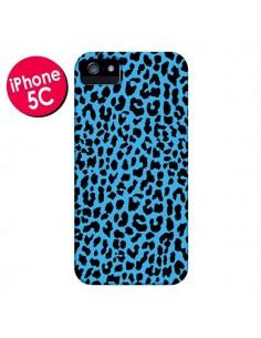 Coque Leopard Bleu Neon pour iPhone 5C - Mary Nesrala