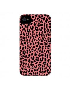 Coque Leopard Corail Neon pour iPhone 4 et 4S - Mary Nesrala