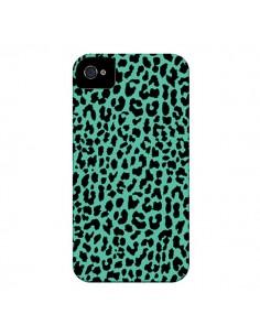 Coque Leopard Mint Vert Neon pour iPhone 4 et 4S - Mary Nesrala