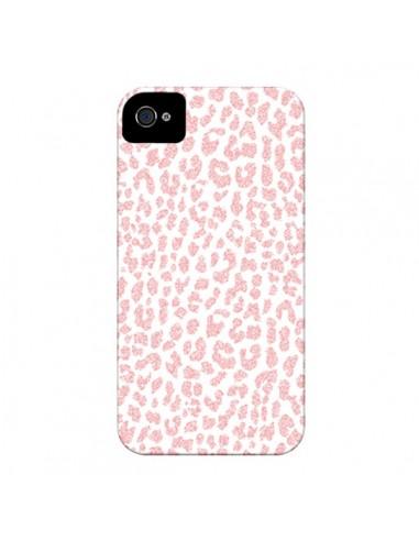 Coque Leopard Rose Corail pour iPhone 4 et 4S - Mary Nesrala